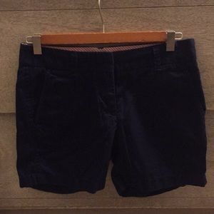 Navy blue J Crew shorts
